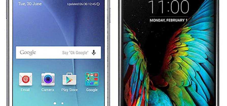 LG K10 and Galaxy J7
