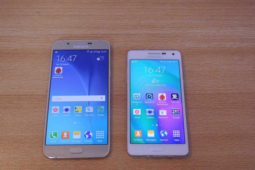 Samsung Galaxy A3 and Galaxy A8