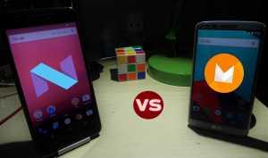Android N vs AAndroid N vs Android Mndroid M