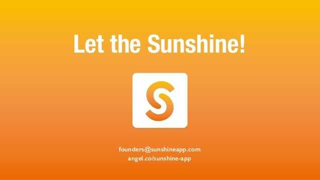 Sunshine the weather app
