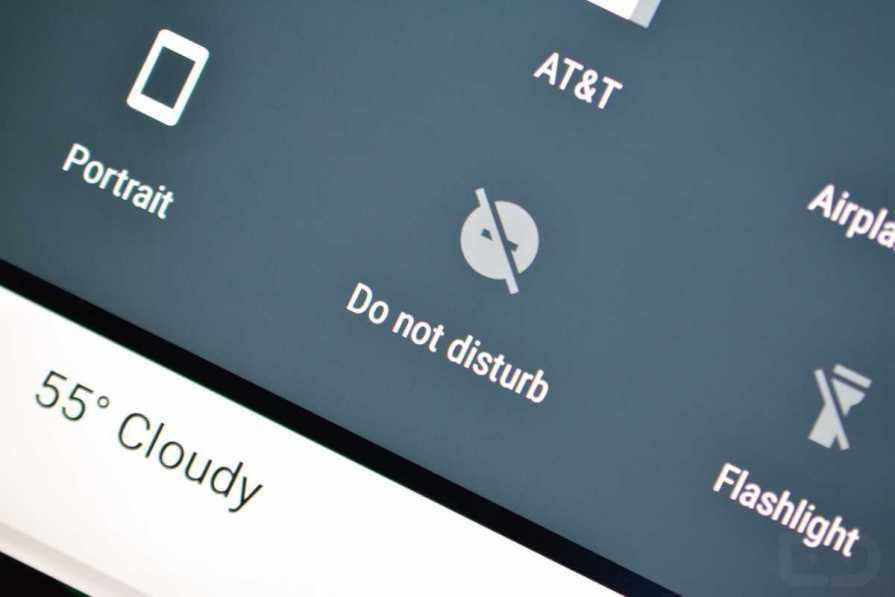 Android Smartphone Activate Do Not Disturb