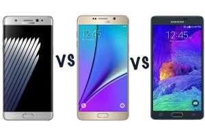 Galaxy Note 7 vs Galaxy Note 5 vs Galaxy Note 4