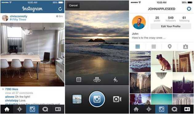 Instagram Redesigns its iOS App