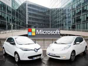 Renault-Nissan and Microsoft team up