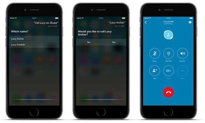 Skype 6.25 Bring in Siri to Make Calls