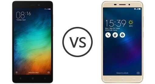 Xiaomi Redmi 3S vs ASUS ZenFone 3