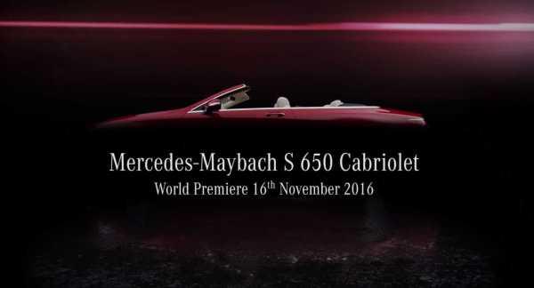 2017 Mercedes Maybach S650 Cabriolet