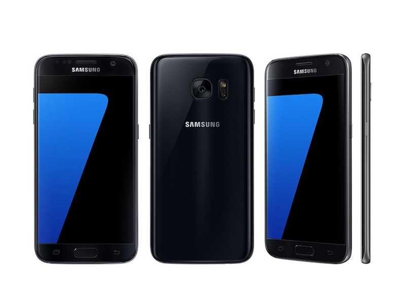 Galaxy S7 lineup Glossy Black