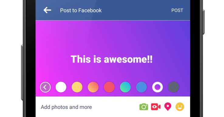 Facebook Colored Text Statuses