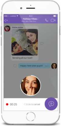 Viber Instant Video Messages Update