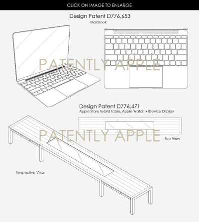 Apple Patents for Table & MacBook