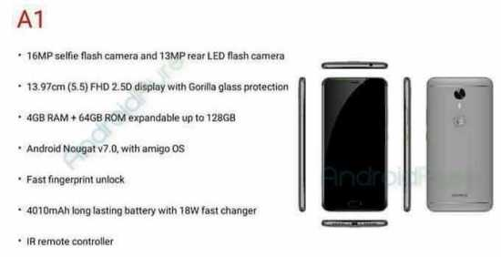 Gionee A1 Specifications