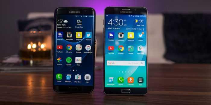 Samsung Galaxy Note 5 and Galaxy S7 Edge