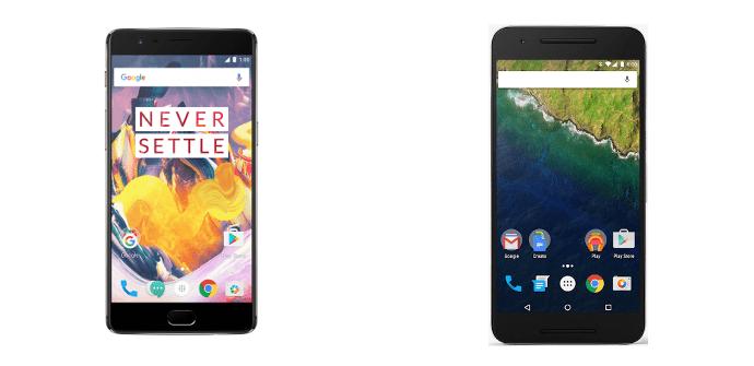 OnePlus 3T vs Google Nexus 6P