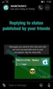 WhatsApp Beta New Status Features