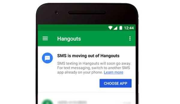 Google kills Hangouts SMS