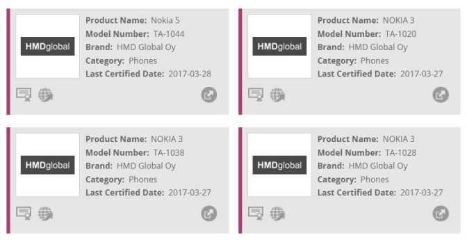 Nokia 5 and Nokia 3