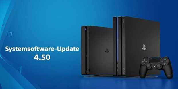 Playstation 4 System software Update 4.50
