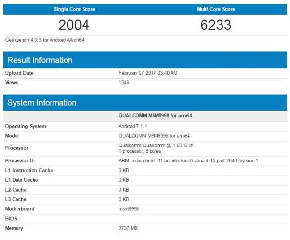Samsung Galaxy S8 Snapdragon 835