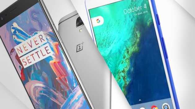 Samsung Galaxy S8, OnePlus 5 and Google Pixel 2