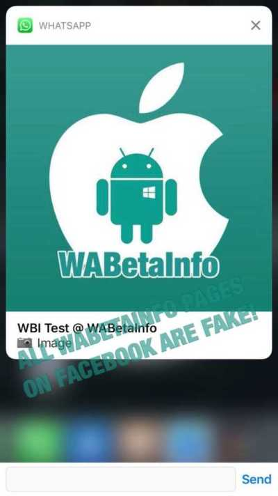 WhatsApp beta for iOS