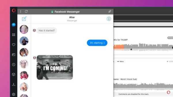 Opera on Facebook Messenger