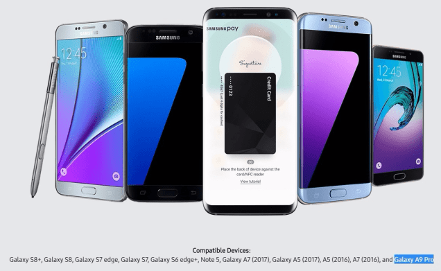 Samsung Pay and Galaxy A9 Pro