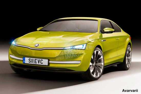 Skoda Sports Car with EV Technology