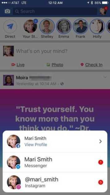 Facebook, Instagram, Facebook Messenger