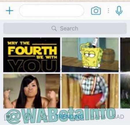 WhatsApp GIF new design iOS