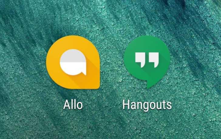 Google Allo and Google Hangouts