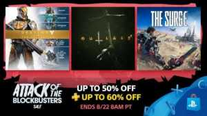 Blockbuster Sale AAA Titles on PS4 Gets Discounts