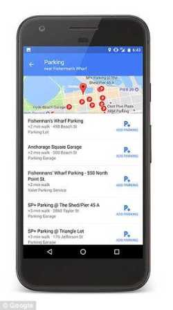 Google Maps on Android Spots Near Your Destination