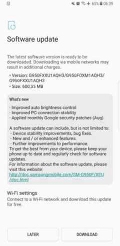 samsung s8 and s8 plus update