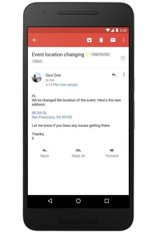 Gmail Will Convert Address, Phone Numbers into Links