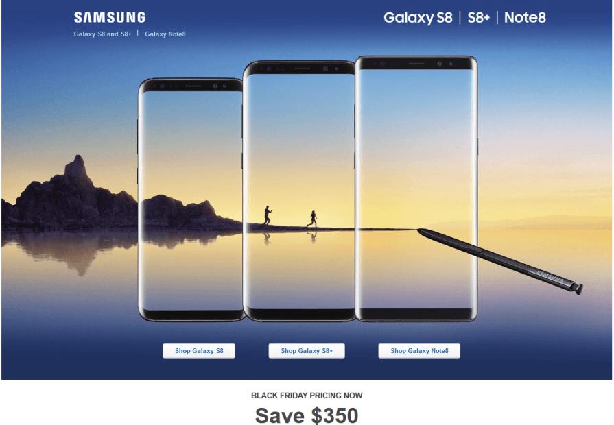 Samsung Galaxy S8, Note 8 Best Buy