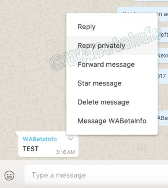 Whatsapp Users Can Soon Send Private Messages in a Group