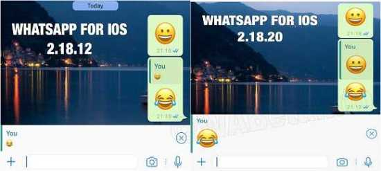 Whatsapp 2.18.20 for iOS Rolled Out with NewEmojis
