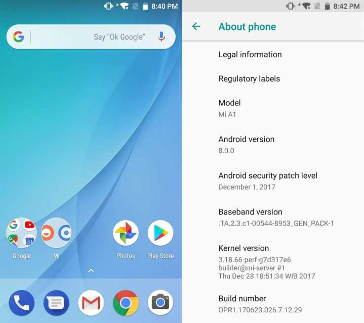 Xiaomi Mi A1 Android Oreo update doesn't bring Project
