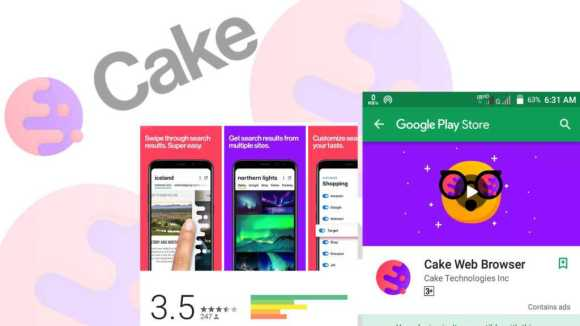 Cake-browser 5 Amazing Android Apps in March 2018