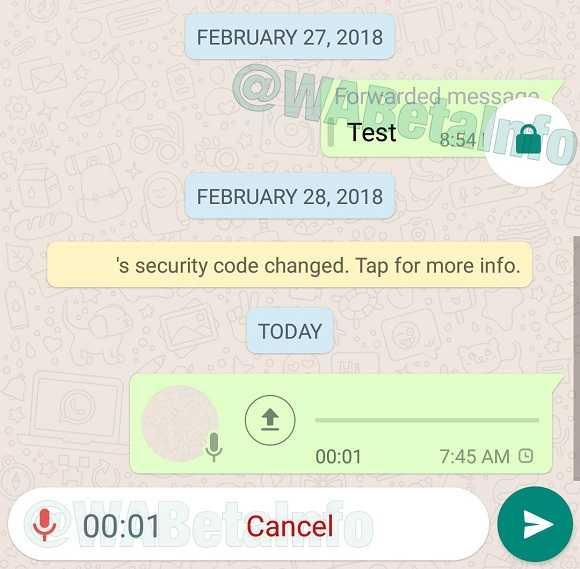 WhatsApp Locked Recording