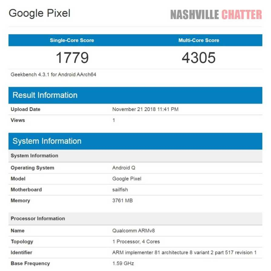 Google Pixel 3 Android Q