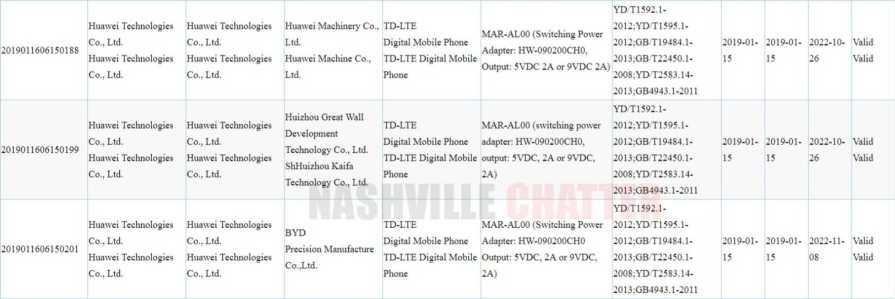 Huawei MAR-AL00