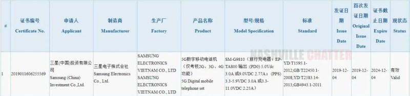 Samsung Galaxy S11e 5G