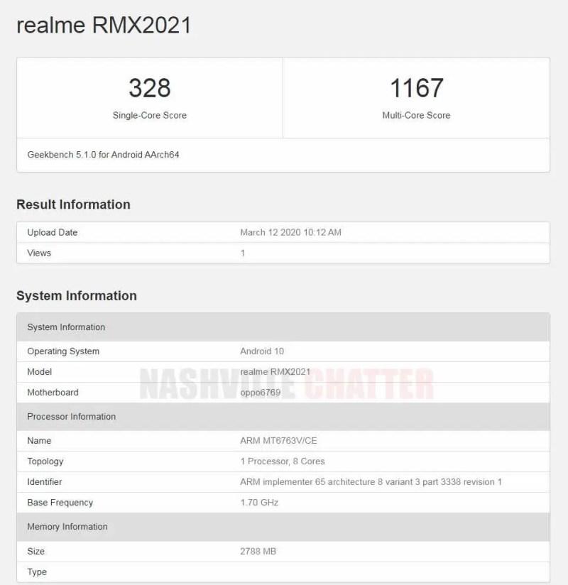 Realme RMX2021