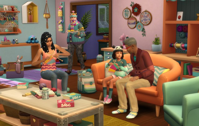 Sims 4 Nifty Knitting