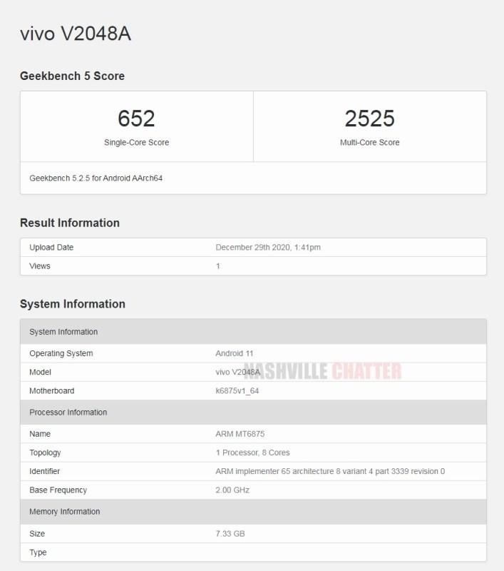 Vivo V2048A