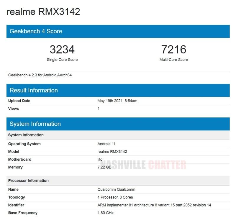 Realme RMX3142