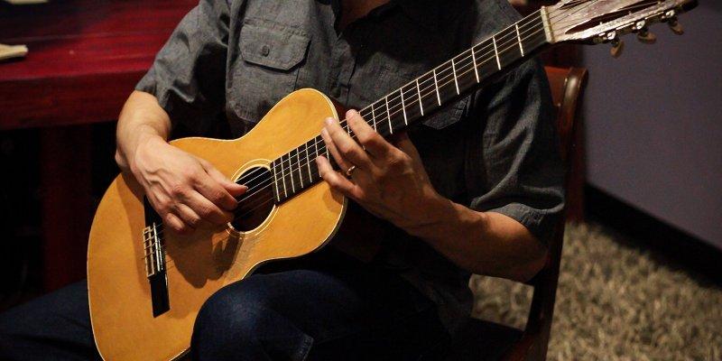 guitarist's hands