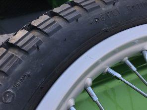 Scratch on spare wheel rim
